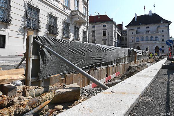 """Der """"Mauerbau"""" am Ballhausplatz wurde abgesagt"""