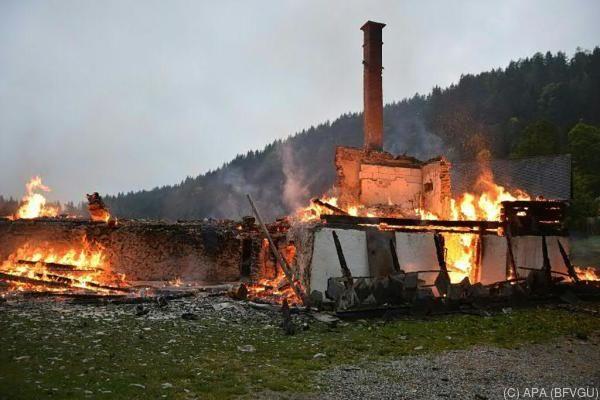 Das Haus in der Gemeinde Gratwein-Straßengel brannte komplett nieder