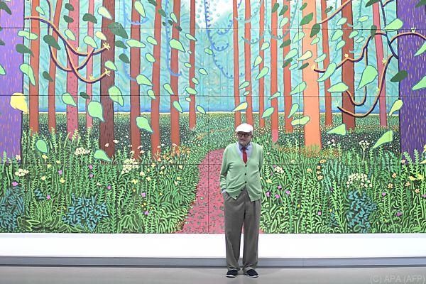 Das Gemälde wird bis zum Ende der Ausstellungpräsentiert