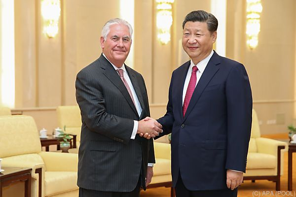 Tillerson ist zu Gesprächen in Peking