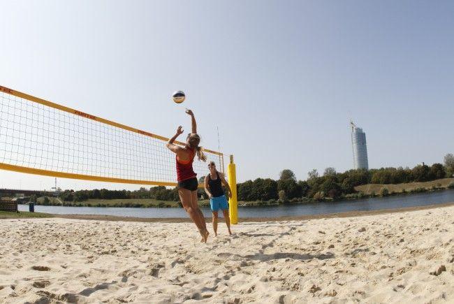 Mit dem Sand der Beachvolleyball-WM in Wien wurde bei der Neuen Donau ein neuer Platz errichtet.
