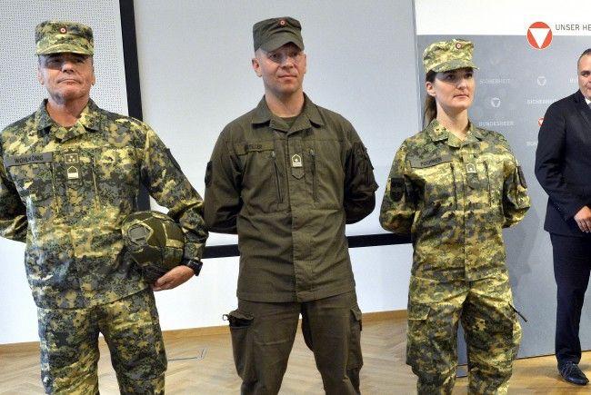 Die neuen Uniformen des Bundesheers.