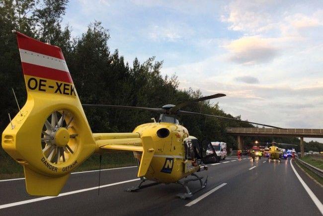 Auf der Wiener Außenringautobahn kam es Sonntagfrüh zu einem schweren Unfall.