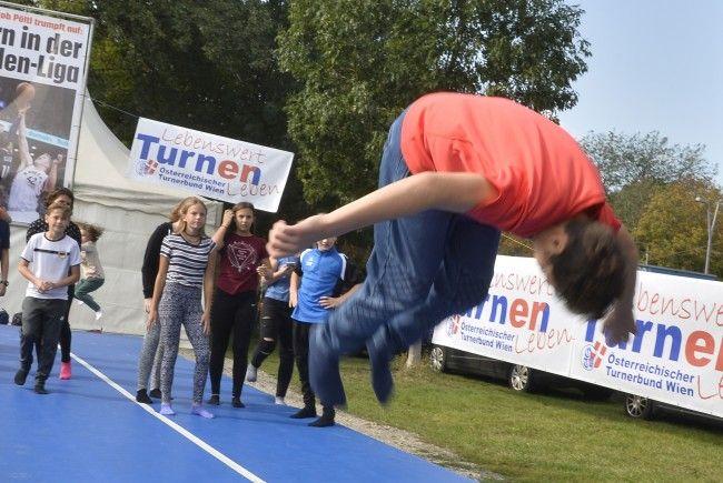 Der 17. Tag des Sports fand im Wiener Prater statt.