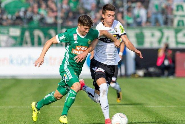 Rapid erspielte im Ländle ein 2:2 gegen Altach.