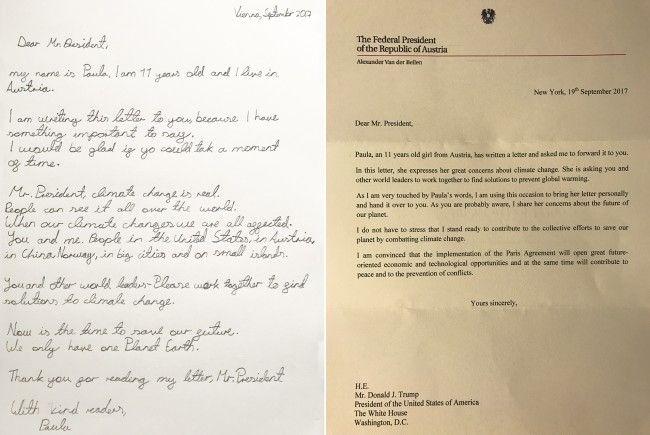 Van der Bellen überreichte den Brief.