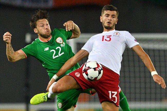 Rapid Wien-Profi Kvilitaia spielt für das georgische Nationalteam.