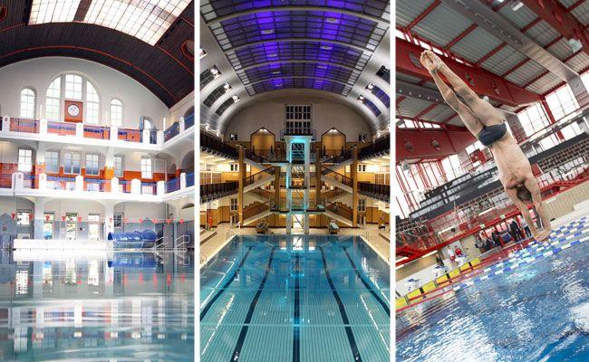 In Wiens Hallenbädern lässt es sich teils gediegen schwimmen.