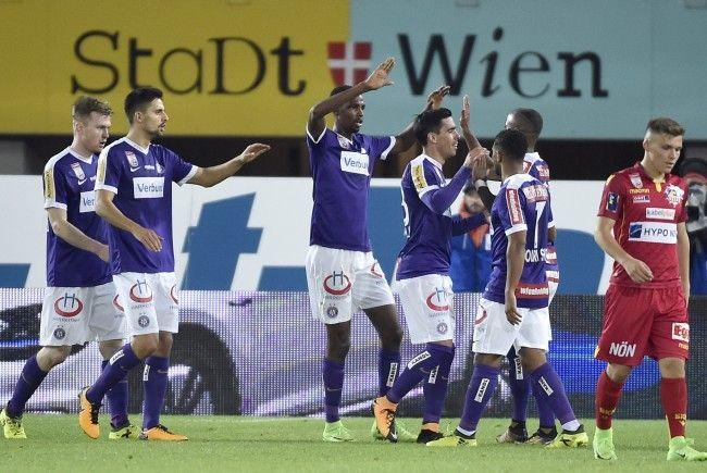 Die Wiener Austria zerlegte St. Pölten im Happel Stadion mit 5:1 regelrecht