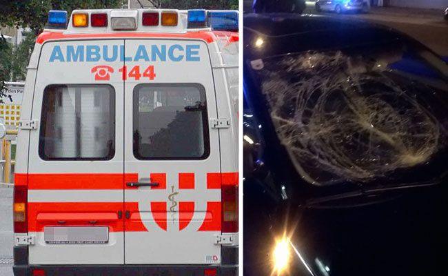 Der schwerverletzte Fußgänger wurde von der Berufsrettung ins Spital gebracht.