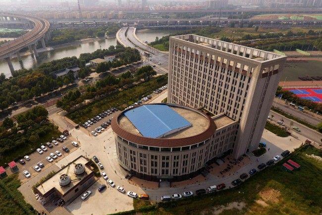 Diese chinesische Universität sieht aus wie eine gigantische Universität.