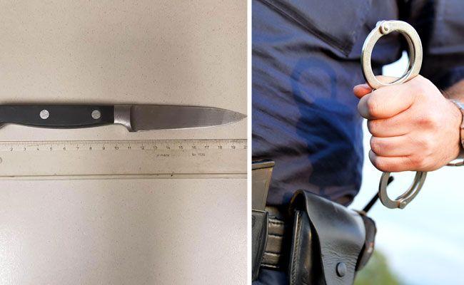 Mann bedrohte Polizisten in Wien-Neubau mit Küchenmesser