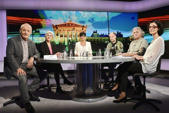 Die Kleinparteien diskutierten im ORF zur Nationalratswahl