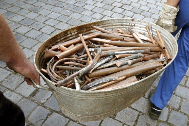 Die Polizei fand mehrere Kilogramm Kupferdrähte in einer Wohnung in Wien-Fünfhaus.