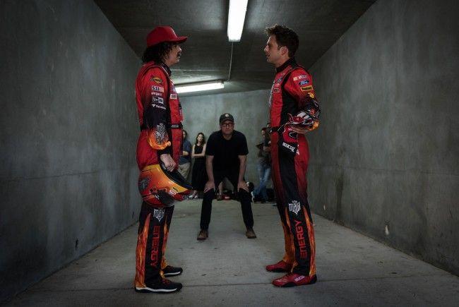 """Regisseur Steven Soderbergh (Mitte) im Interview zu """"Logan Lucky"""""""