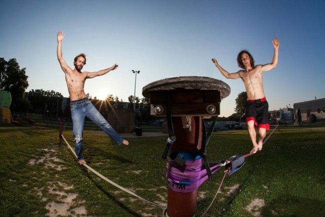Beim Naturfreundefestival können Kinder und Erwachsene Sportarten ausprobieren.