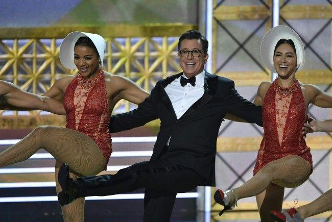 Moderierte einen unterhaltsamen Abend: Stephen Colbert bei den Emmys 2017