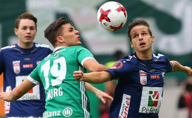 Rapid Wien gewann gegen den WAC mit einem klaren 4:2.