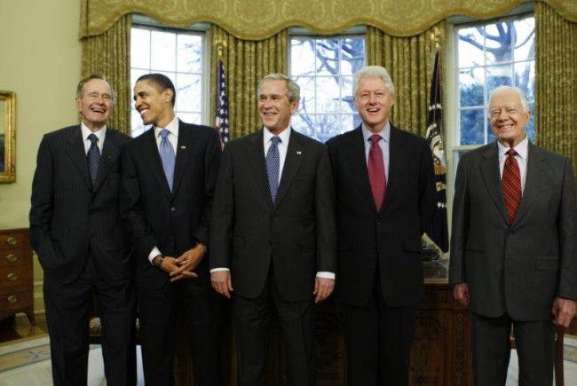 Ex-US Präsidenten rufen zur Spendenaktion auf