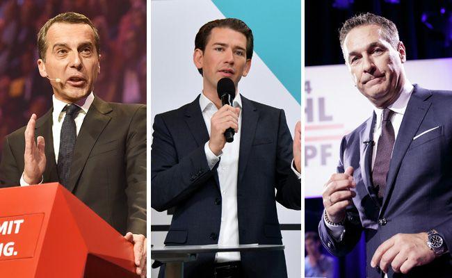Die Chefs der drei großen Parteien treffen am Freitag in Linz aufeinander.