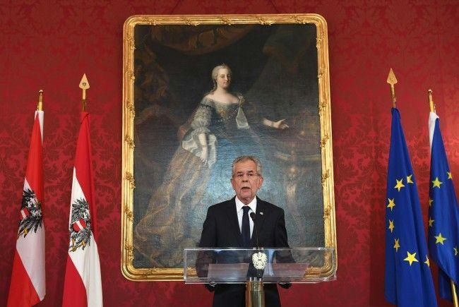 Bundespräsident Van der Bellen wandte sich vor der Nationalratswahl an die Bevölkerung.