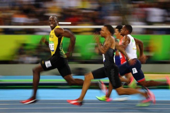 Grandioses Foto von Usain Bolt, zu sehen bei der World Press Photo-Ausstellung in der Galerie Westlicht