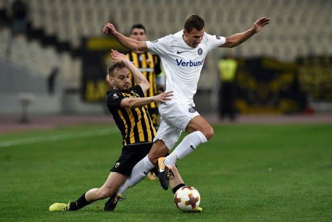 Austria und AEK trennten sich in Athen unentschieden.