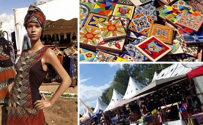 Allerlei zum Staunen bot der Bazar bei den Afrika Tagen 2017