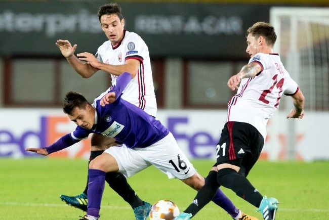 Dominik Prokop und seine Austria mussten sich zum Auftakt der Europa-League-Gruppenphase die Übermacht des AC Milan eingestehen.