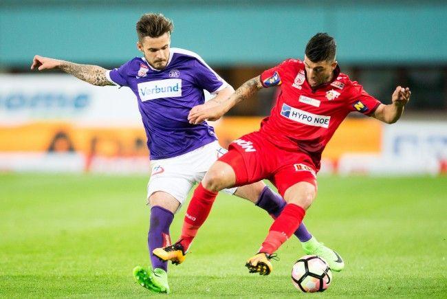 Die Wiener Austria schließt die 8. Bundesligarunde mit dem Heimspiel gegen den SKN St. Pölten ab.