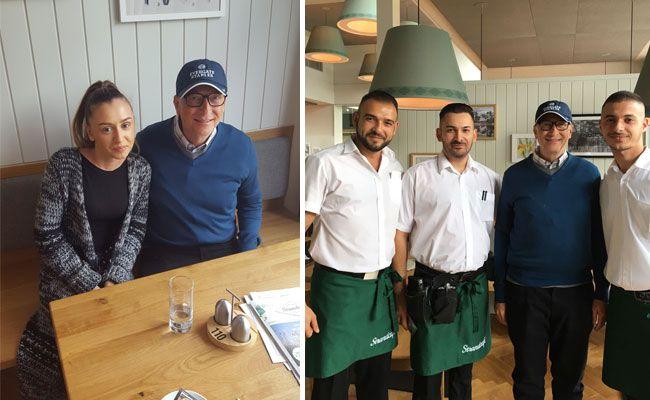 Bill Gates auf Besuch im Wiener Strandcafé.