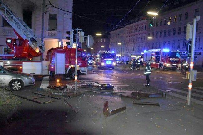 Erste Details nach der Explosion in der Laxenburger Straße in Wien-Favoriten.