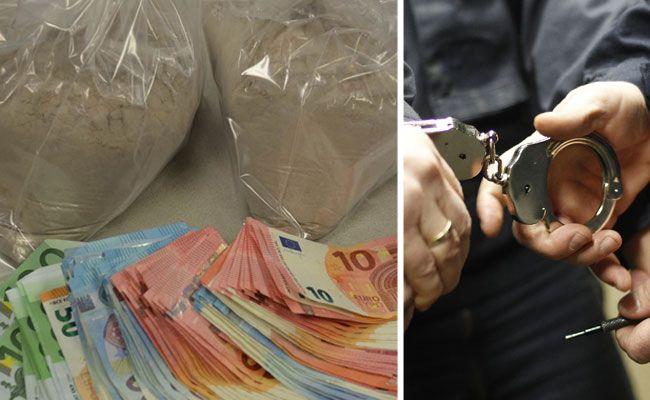 In der Wohnung des Drogenkuriers wurden 2.100 Gramm Heroin sichergestellt.