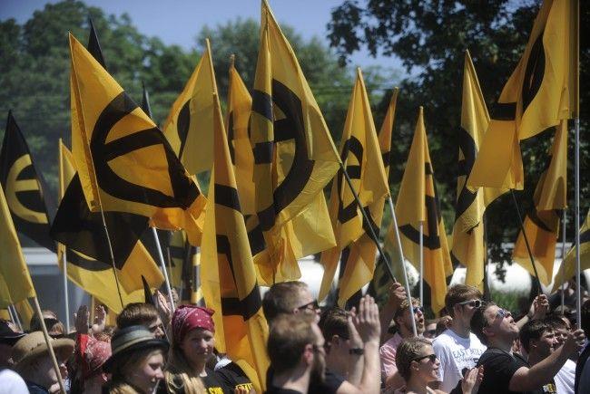 Die Identitären-Kundgebung am Wiener Kahlenberg verlief ruhig.