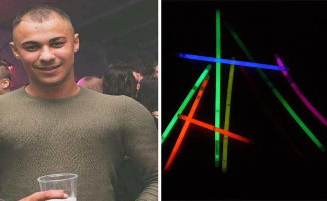 Ein Streit um Leuchtstäbe eskalierte - dieser junge Mann wird polizeilich gesucht