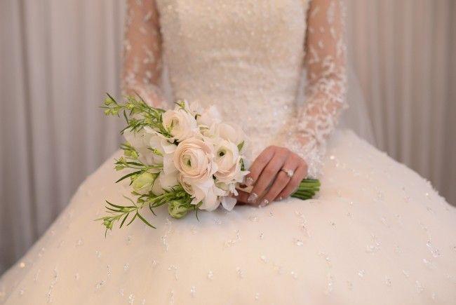 Eine Italienerin feierte eine Hochzeit, allerdings ganz ohne Bräutigam