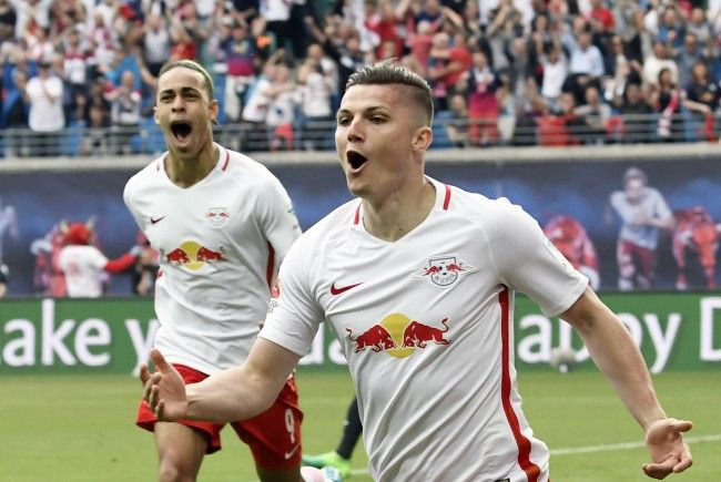 Marcel Sabitzer fordert mit RB Leipzig die AS Monaco in der Champions League.