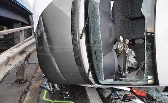 Der Fahrer war bei dem Unfall nicht angeschnallt.