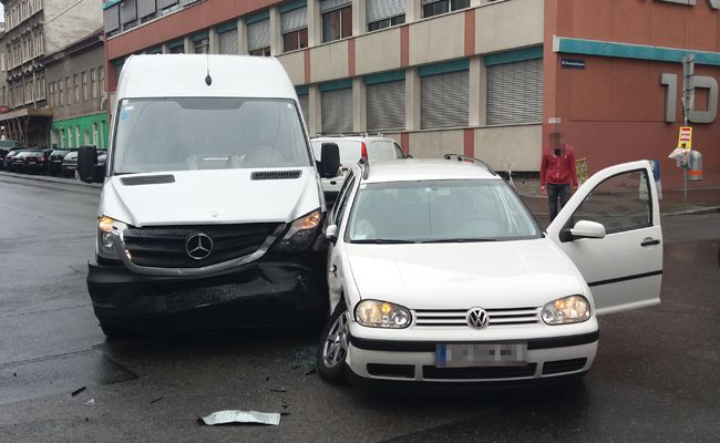 In Favoriten kam es zu einem Verkehrsunfall.