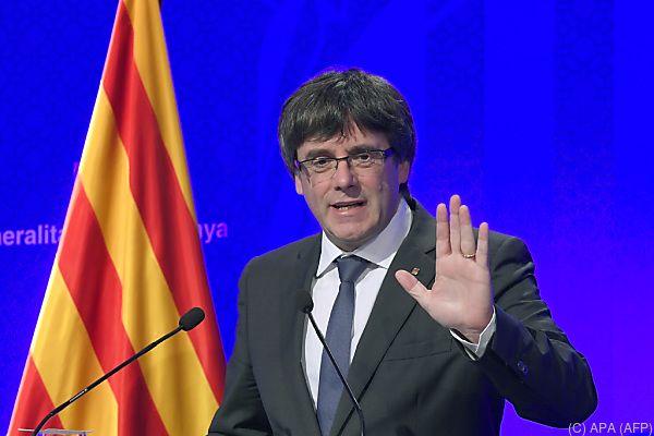 Für Carles Puigdemont ist das Referendum verbindlich