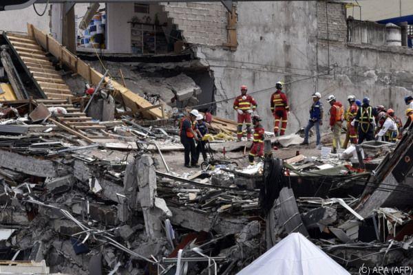 In Mexiko-Stadt stürzten insgesamt 39 Häuser ein