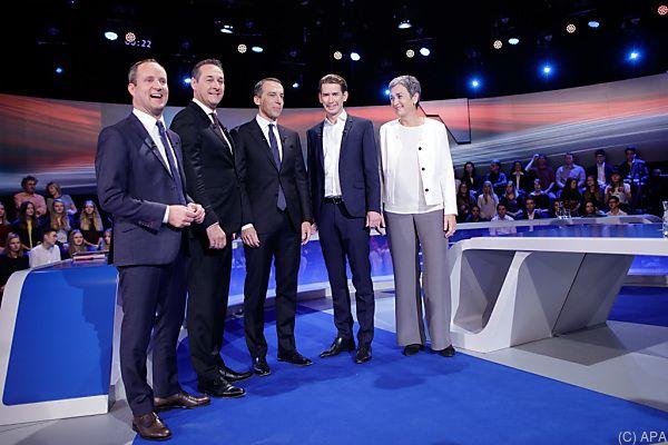 Die Spitzenkandidaten nach der Diskussion