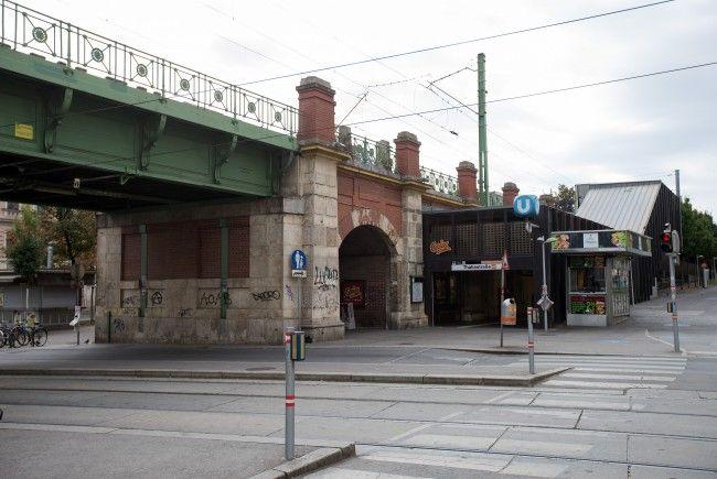 Am Tatort der Messerstecherei in Wien-Ottakring.