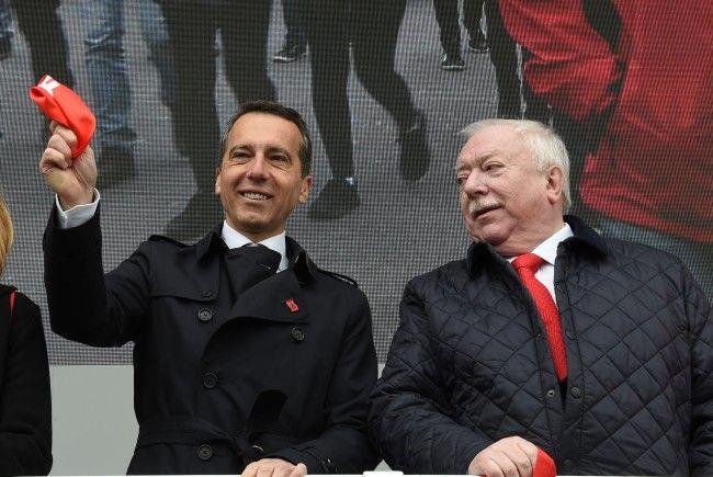 Christian Kern kann auf die Untersützung von Wiens Bürgermeister Michael Häupl zählen.