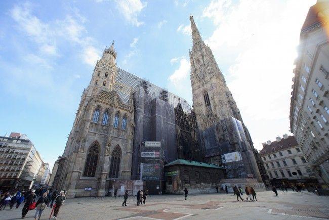 Auch viele Teile des Wiener Stephansdoms bestehen aus Sandstein.