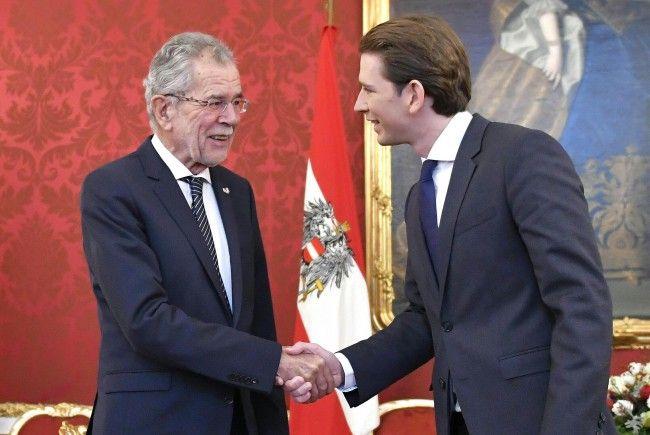 Bundespräsident Alexander Van der Bellen empfängt am Montag Außenminister Sebastian Kurz (ÖVP) in der Präsidentschaftskanzlei in Wien