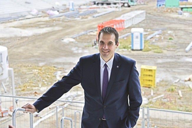 Austria-Manager Markus Kraetschmer, hier auf der Baustelle der Generali-Arena.