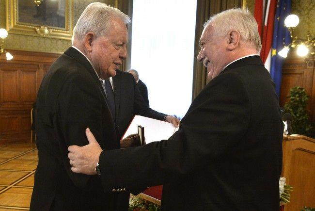 Vranitzky wurde zum Ehrenbürger der Stadt Wien ernannt.