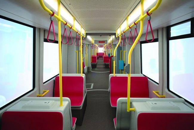 So sieht das Innenleben der neuen Flexity-Straßenbahn von Bombardier nach Abschluss der Arbeiten aus..