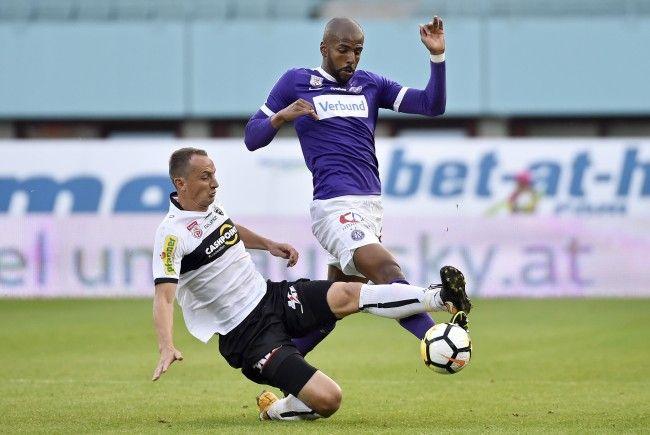 Austria-Verteidiger Ruan verletzte sich im Heimspiel gegen Altach am Oberschenkel.